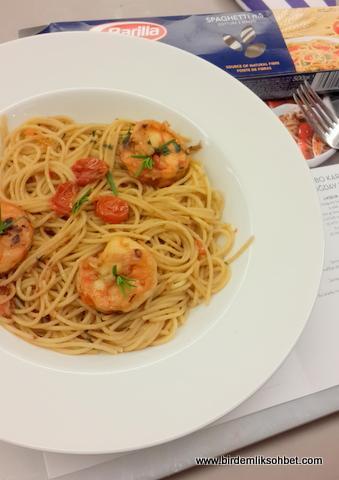 Jumbo Karidesli Tam Bugday Spaghetti / www.birdemliksohbet.com
